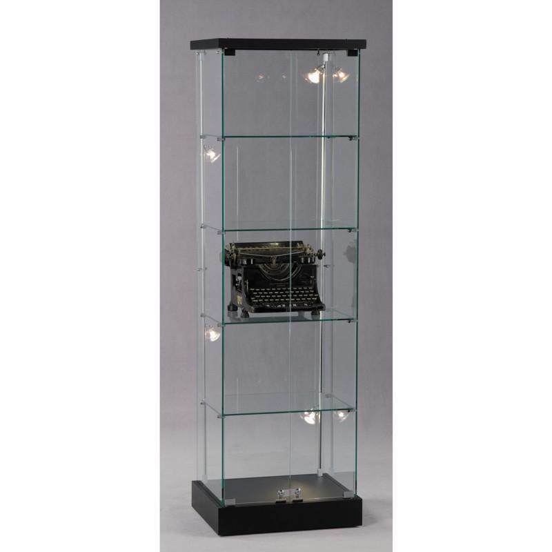 standvitrine glas 15 ganzglas s ulenvitrine vitrine innenvitrine sammlervitrine. Black Bedroom Furniture Sets. Home Design Ideas