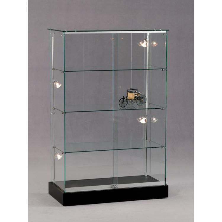 standvitrine glas 17 ganzglas s ulenvitrine vitrine innenvitrine sammlervitrine. Black Bedroom Furniture Sets. Home Design Ideas
