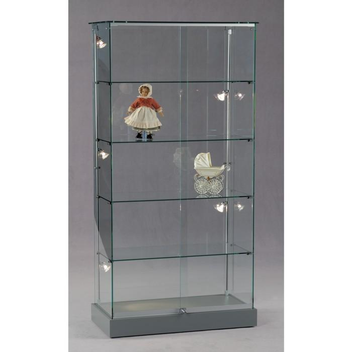 standvitrine glas 18 ganzglas s ulenvitrine vitrine. Black Bedroom Furniture Sets. Home Design Ideas