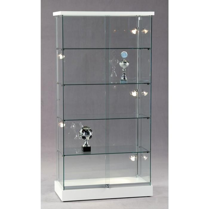 standvitrine glas 19 ganzglas s ulenvitrine vitrine. Black Bedroom Furniture Sets. Home Design Ideas