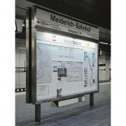 Schaukastenanlage VARIO-115 Edelstahl-Look