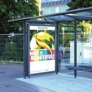 Citylightvitrine VARIO-123 für Buswartehalle